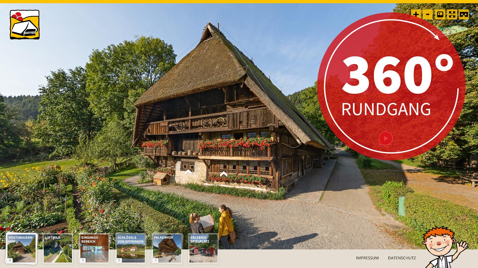 Schwarzwälder Freilichtmuseum Vogtsbauernhof -360° Rundgang
